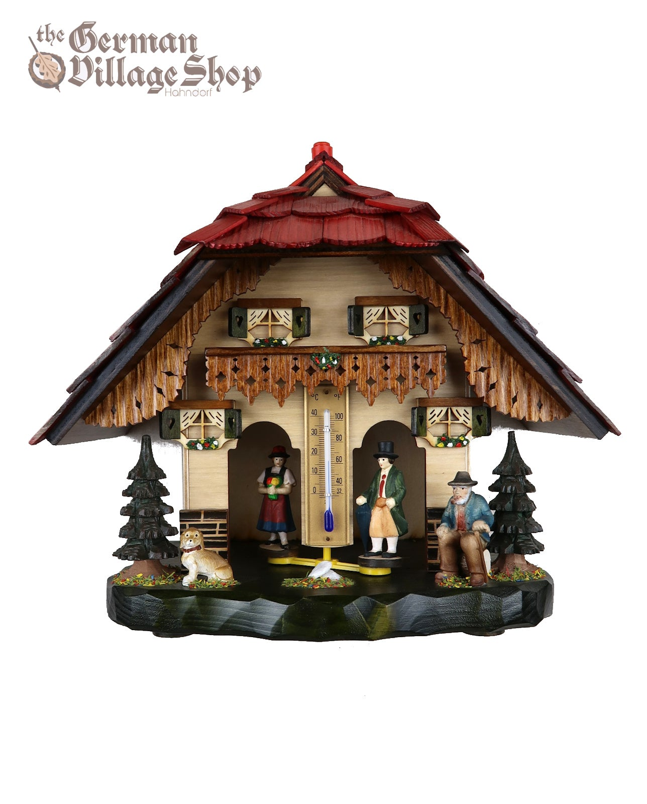 German made wooden black forest weather house