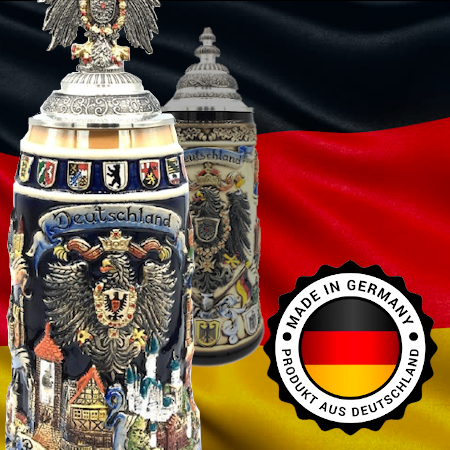 German made beer steins imported from Germany and sold in Australia