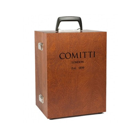 Travel case for the limited edition rose gold comitti navigator clock available for sale in Australia
