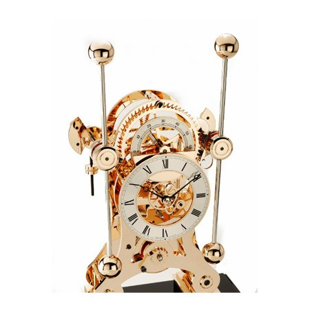 Rose gold limited edition navigator clock made by Comitti