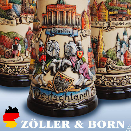 Zoller and Born made in Germany beer stein company