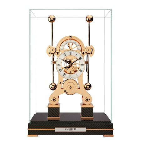 Comitti Rose Gold navigator clock available for sale in Australia