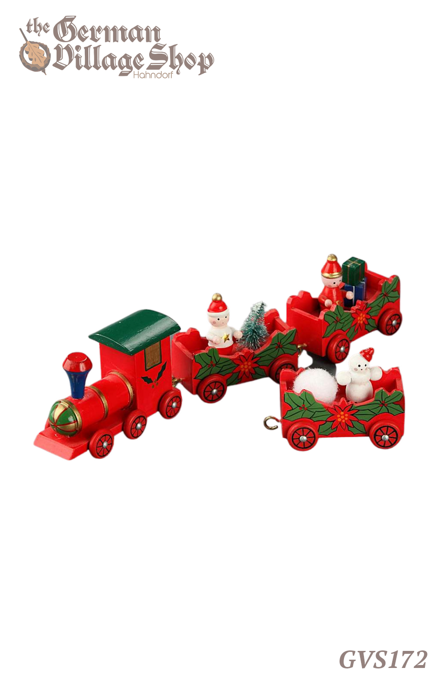 German wooden Christmas decorations, wooden train