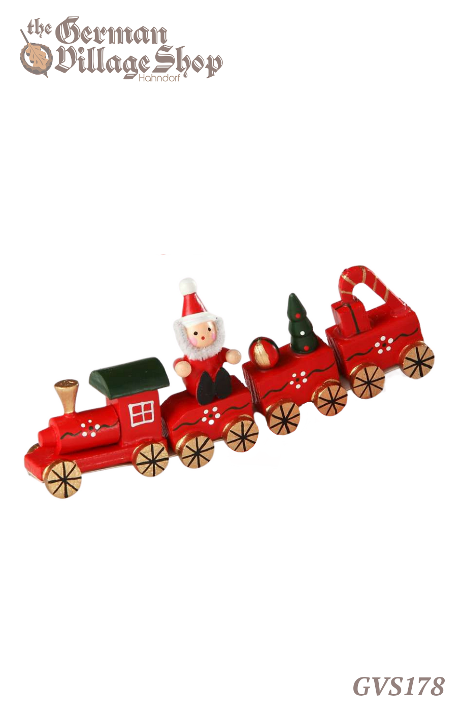 German wooden Christmas decoration, wooden train