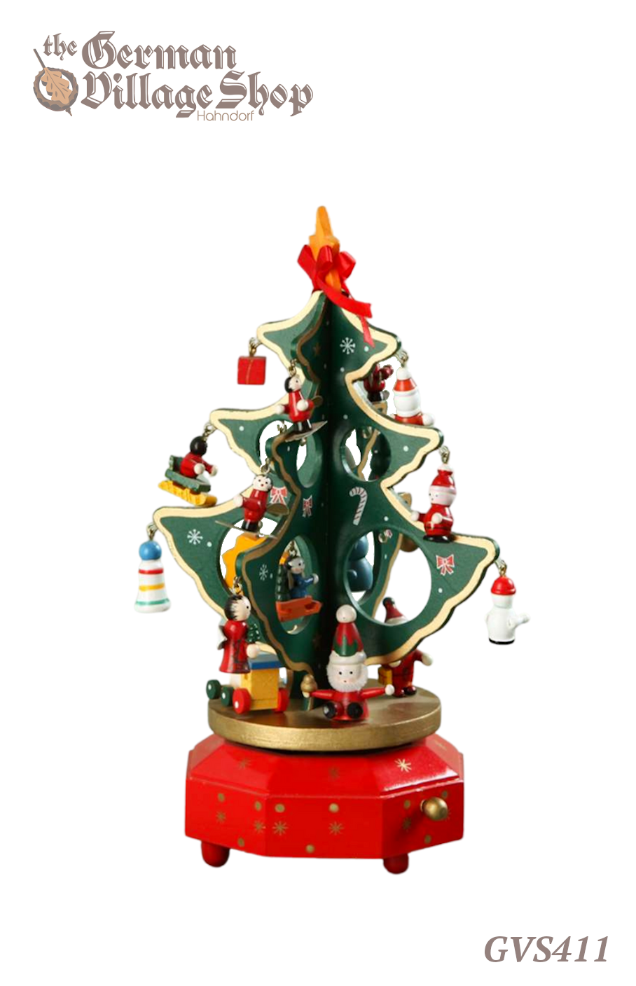 rman wooden Christmas tree, Christmas decorations, Christmas trees with ornaments with music box