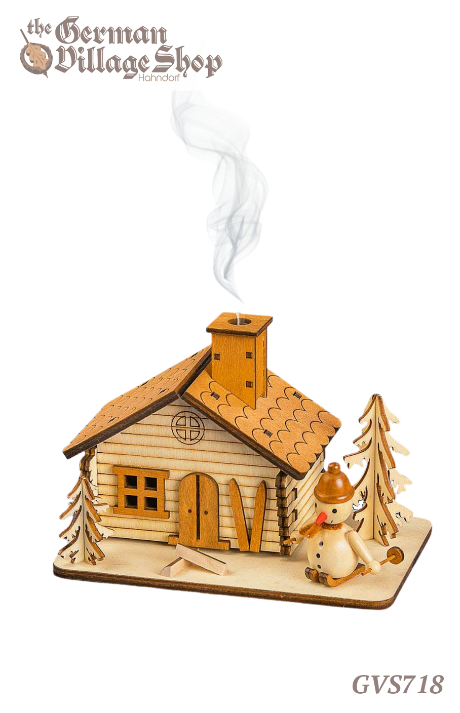 German wooden Christmas decoration, smoker house