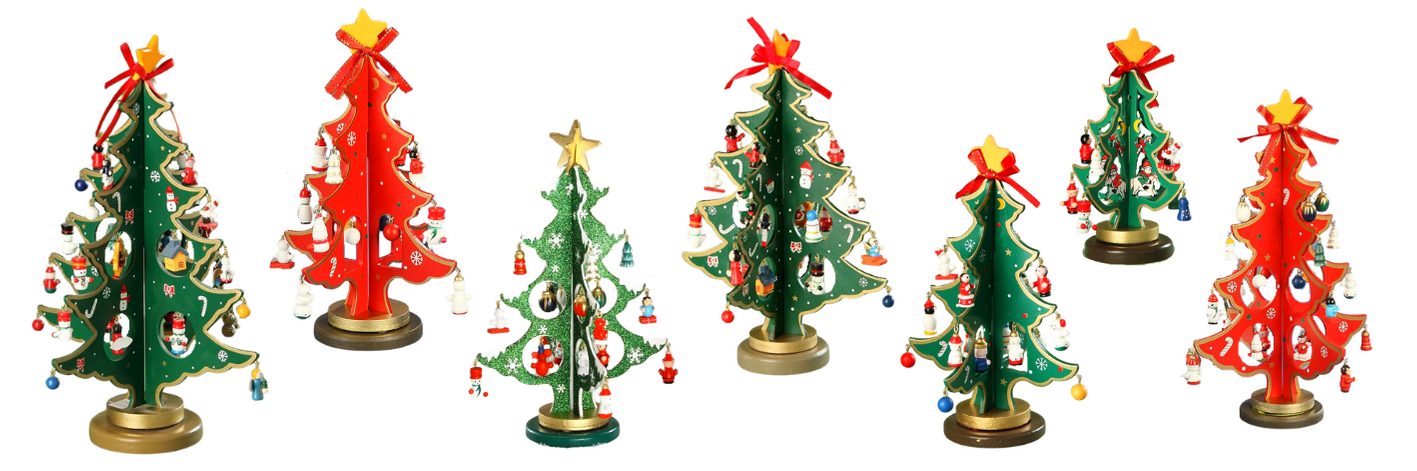German wooden christmas tree collection imported to Australia