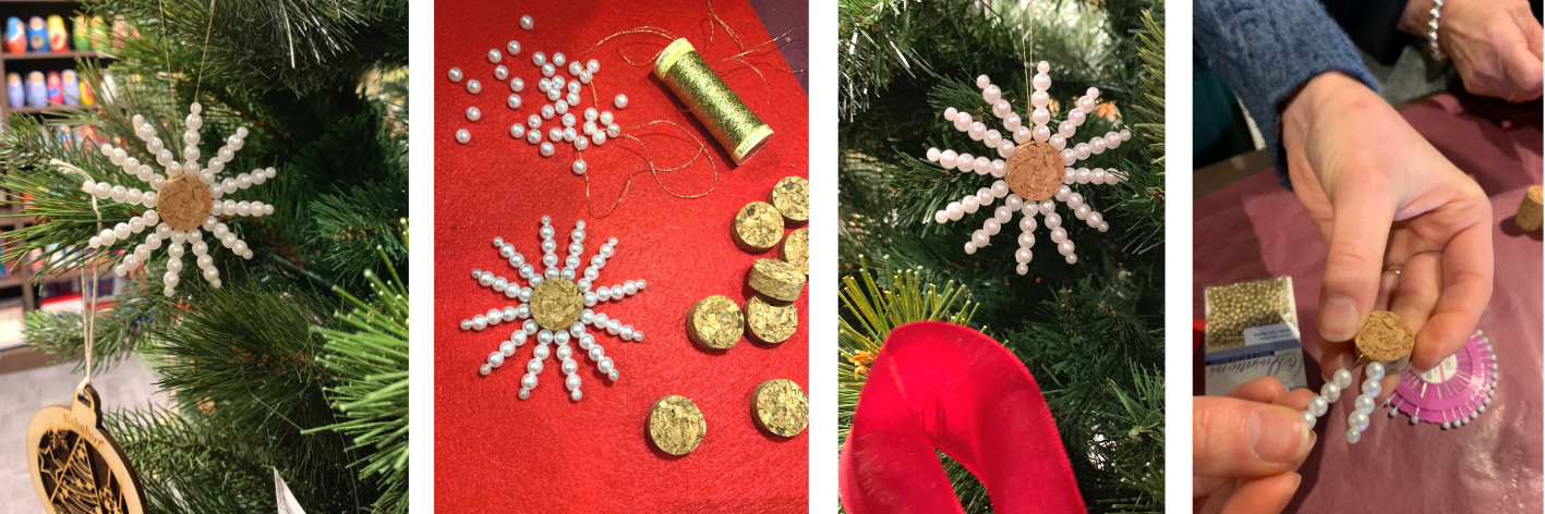 Traditional German Christmas decorations craft