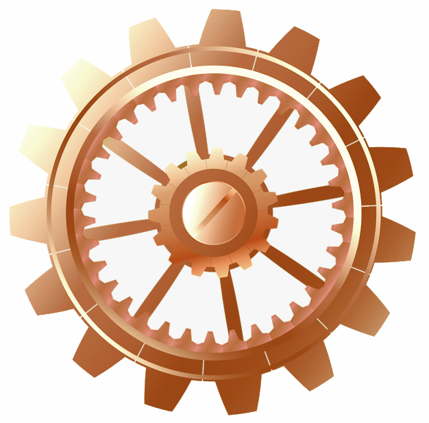 Rose gold cog like rose gold plated movement of comitti clock