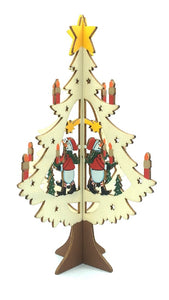 WOODEN CHRISTMAS TREE ORNAMENT - SNOWMAN