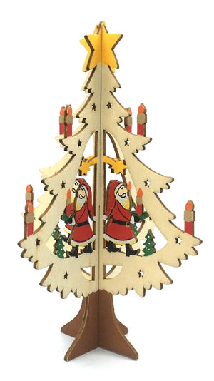 WOODEN CHRISTMAS TREE ORNAMENT - SANTA