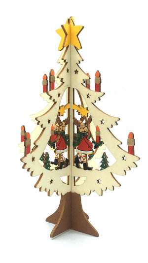 WOODEN CHRISTMAS TREE ORNAMENT - REINDEER