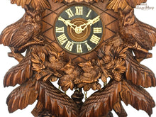 CUCKOO CLOCK MECHANICAL HONES 8 day mechanical traditional with owl carvings