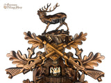 German Cuckoo Clock 8 day mechanical before the hunt scene with music