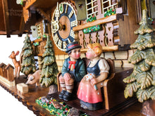 Cuckoo Clock Mechanical 8 Day - Hones kissing couple on bench