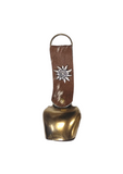 Alpine cowbell German cowbell genuine cow hide brass bell.