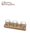 Schnapps Board 3 glasses - rectangle