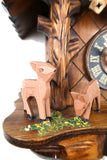 German Cuckoo Clock 1 day mechanical black forest chalet with deers