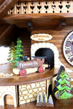 Cuckoo Clock Quartz - Musical chalet dancers with moving train
