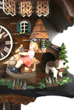 German Cuckoo Clock 1 day mechanical chalet with moving rocking horse and music