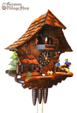 German Cuckoo clock with music and wooden sawyermen