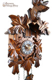 German Cuckoo Clock battery operated with traditional stag head carving