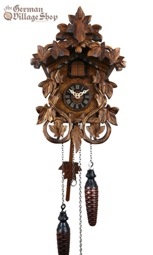German Cuckoo Clock battery operated vine leaves