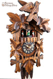 German Cuckoo Clock 1 day mechanical with cuckoo birds with music