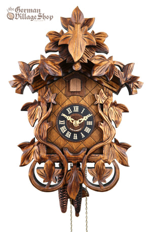 German Cuckoo Clock 1 day mechanical traditional vine