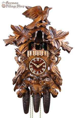 German Cuckoo Clock 8 day mechanical traditional cuckoo birds and cuckoo nest