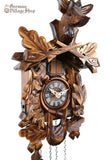 Cuckoo Clock Quartz - Traditional after the hunt scene