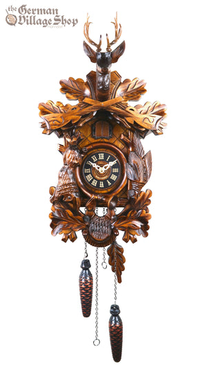 German Cuckoo Clock battery operated After the hunt scene