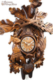 German Cuckoo Clock 8 day mechanical After the hunt scene