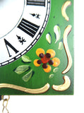 Kuckoolino - Green Hand Painted Quartz Clock