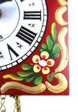 Kuckoolino - Red Hand Painted Quartz Clock