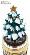 Beer Stein - Christmas market scene with tree lid 1/2 L