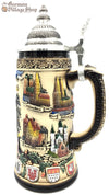 Traditional German Beer stein with German eagle and state crests