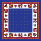 Table Cloth - Blue with edelweiss flower 85x85