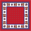 Table Cloth - Red with edelweiss flower 85x85