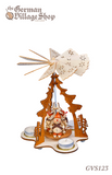 Christmas Decoration - Pyramid with snowmen, 22.5cm