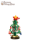 German wooden Christmas tree, Christmas decorations, Christmas trees with ornaments