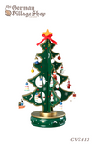 Christmas tree green 33cm wind up music box