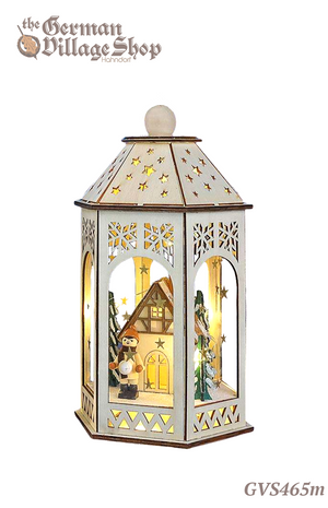 German wooden Christmas decorations, wooden LED lantern