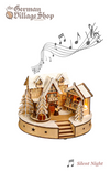 Christmas Decoration - Wooden LED Village with Music (Silent Night)