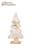 Christmas Decoration - Wooden Christmas tree light fur 29cm
