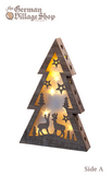 Wooden and LED Christmas decoration, Christmas tree, laser wood cut out