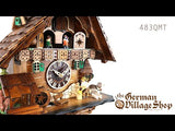 Video of battery operated cuckoo clock with Coo Coo call with moving wood chopper and music