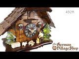 Video of 1 day mechanical chalet cuckoo clock with Coo Coo call with moving woodchopper