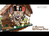 Video of battery operated cuckoo clock with Coo Coo call with moving beer drinkers and music