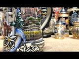 This video features a Traditional German beer stein featuring Neuschwanstein castle and pewter lid. featured in The German Village Shop Hahndorf South Australia